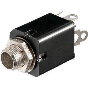 Klinkeneinbaubuchse, 6,3 mm, Stereo FREI