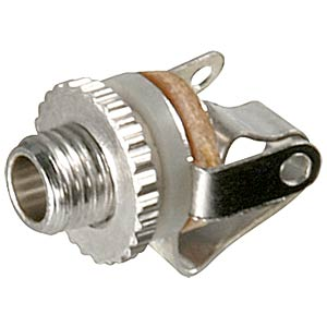 Jack socket, 2.5 mm mono, central mounting FREI