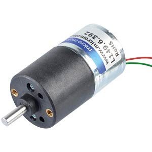 Geared motor 27 mm, 392:1, 6 V DC MICRO MOTORS