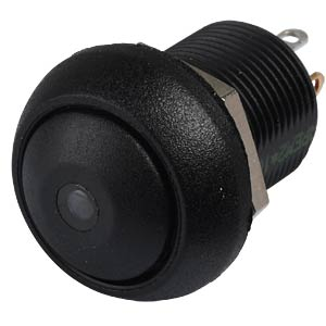 Drucktaster IL 12 mm - gewölbt, Löt, sw, LED ge APEM ILR3SAD2L0Y