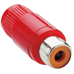 RCA connector, straight, red LUMBERG KTO 1 ROT