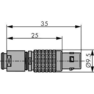 Kabelstecker, B-Serie 0B, 3 polig LEMO FGG.0B.303.CLADS2Z