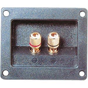 Lautsprecher-Terminal, versenkte Ausführung, eckig, 2-pol FREI