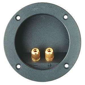 Lautsprecher-Terminal, versenkte Ausführung, rund, 2-pol FREI