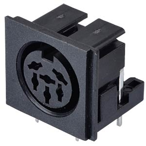 DIN-Einbaukupplung - 90°, 6-pol, für PCB LUMBERG 010599 06