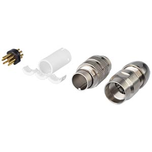 Connectors, round plug.,IP 68, 360°  shielded, 8-pol. LUMBERG 033200 08-1