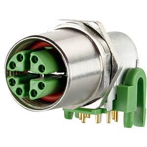 Buchse M12, 8-polig, gewinkelt, Rückwandmontage METZ CONNECT