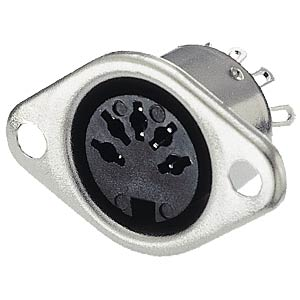 DIN socket, 5-pin, semi-circular FREI