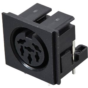 DIN socket, 6-pin, printed version FREI