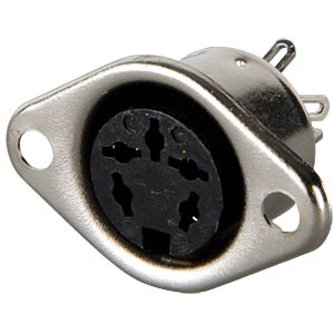 DIN socket, 5-pin, horseshoe-shaped FREI