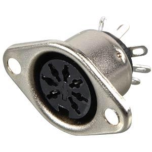 DIN socket, 7-pin FREI