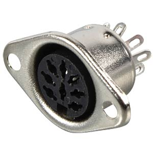 DIN socket, 8-pin, horseshoe-shaped FREI