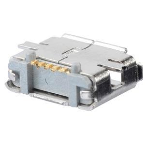 micro-USB-Einbaubuchse, Typ AB, 5-pol, SMD