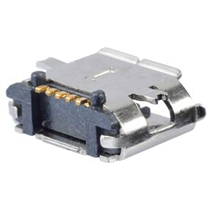 micro-USB-jack, type B, 5 pole, SMD