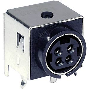 Power DIN panel jack, 4-pin
