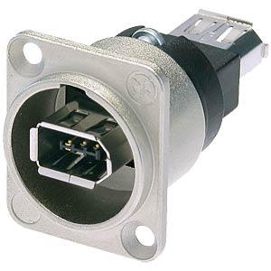 6-poliger FireWire-Buchse, silber NEUTRIK NA1394-6