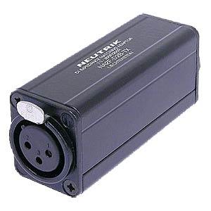 XLR socket to RCA socket, black NEUTRIK NA2FD0BTX