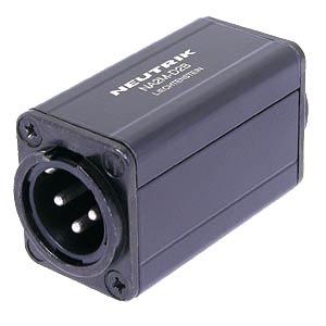 XLR-Stecker auf Cinch-Buchse, schwarz NEUTRIK NA2MD0BT