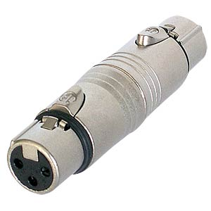 Adapter XLR socket/socket, 3-pin NEUTRIK NA3FF