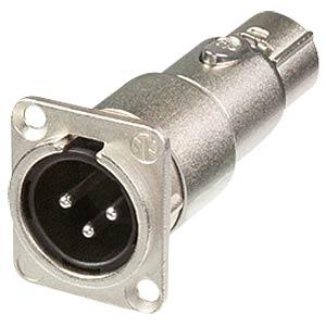 Adapter XLR-Stecker/Buchse, 3-polig NEUTRIK NA3MDF