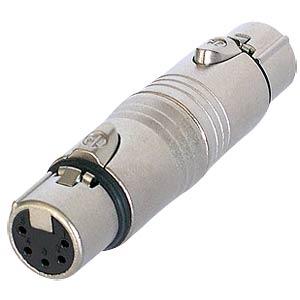 Adapter XLR socket/socket, 5-pin NEUTRIK NA5FF