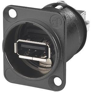 NEUTRIK USB-Einbaudurchgangsbuchse schwarz NEUTRIK NAUSB-W-B