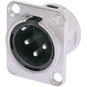 Neutrik XLR flange connector, 4-pin NEUTRIK NC 4 MDL 1