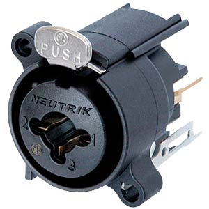 Neutrik Combo panel jacks XLR/6.35 mm NEUTRIK NCJ6FA-V