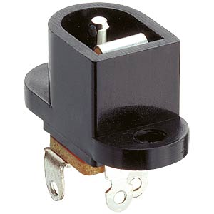 Panel-mounted coupler, fix. flange, break contact pin Ø 1.9 mm LUMBERG NEB/J 21
