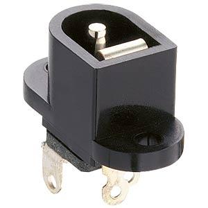Panel-mounted coupler, fix. flange, break contact, pin Ø 2.35 mm LUMBERG NEB/J 25