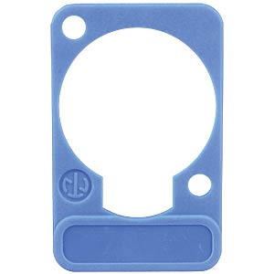 XLR label plate, D-series, blue NEUTRIK DSS-BLUE