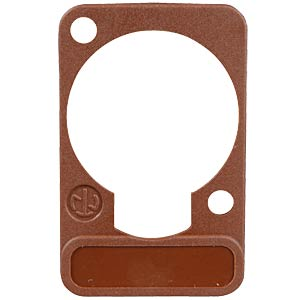 XLR label plate, D-series, brown NEUTRIK DSS-BROWN