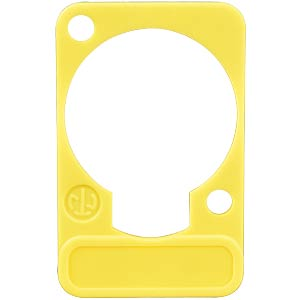 XLR label plate, D-series, yellow NEUTRIK DSS-YELLOW