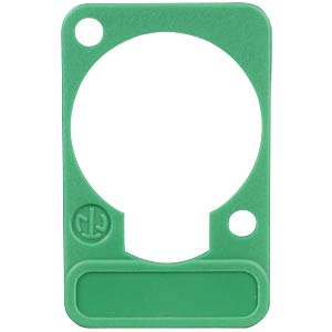 XLR label plate, D-series, green NEUTRIK DSS-GREEN