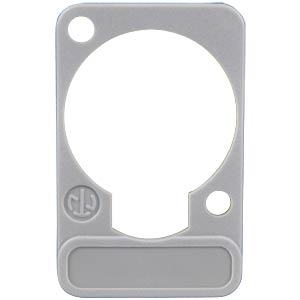XLR label plate, D-series, grey NEUTRIK DSS-GREY