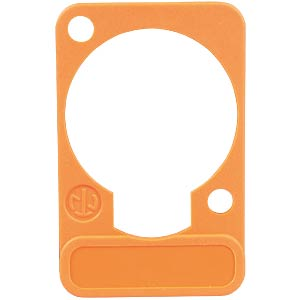 XLR label plate, D-series, orange NEUTRIK DSS-ORANGE
