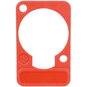 XLR label plate, D-series, red NEUTRIK DSS-RED