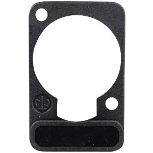 XLR label plate, D-series, black NEUTRIK DSS-BLACK
