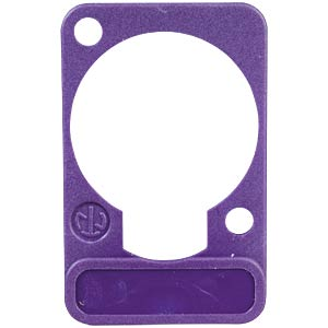 XLR label plate, D-series, purple NEUTRIK DSS-VIOLET