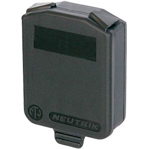 Hinged cover for D-type panel jacks, black NEUTRIK SCDX