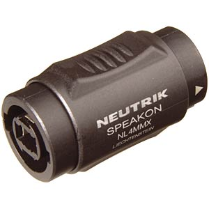 Neutrik Speakon coupling, socket/socket, 4-pin NEUTRIK NL 4 MMX