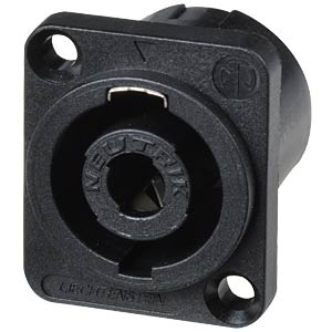 Neutrik Speakon socket, flange, Faston 4.8 mm NEUTRIK NL4MP