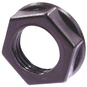 Neutrik mounting nut, black NEUTRIK NRJ-NUT-B
