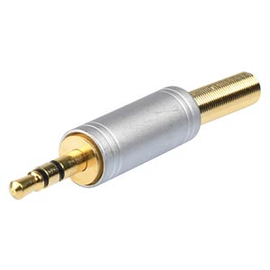 Pearlchrome audio plug, 3,5mm, stereo BKL 1103082