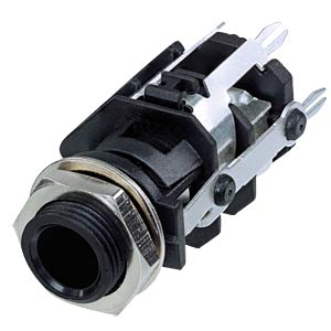Jack socket 1/4, 5-pin, vertical, PCB REAN RJ5VI-D1