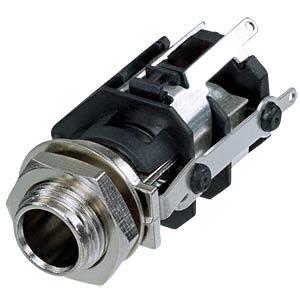 Jack socket 1/4, 5-pin, vertical, soldering lugs REAN RJ5VM-S