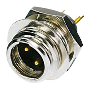 TINY xlr panel connector, 3-pin, wall thicknesses of up to 6 mm REAN RT3MP