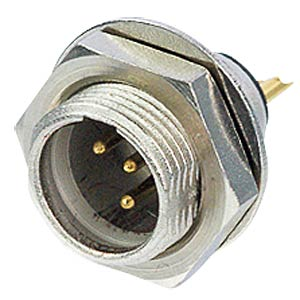 TINY xlr panel connector, 4-pin, wall thicknesses of up to 3 mm REAN RT4MPR