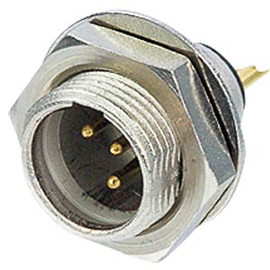 TINY xlr panel connector, 5-pin, wall thicknesses of up to 3 mm REAN RT5MPR