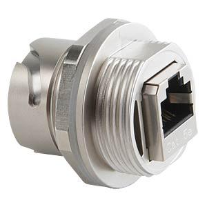 RJ45 inline coupler, socket, die-cast zinc CONEC 17-101754